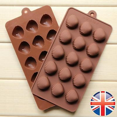 *UK Seller* 15 Shell Shape Silicone Chocolate Cake Candy Muffin Tools Mold Mould
