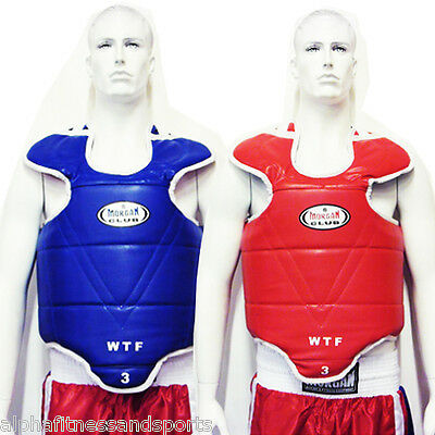 Morgan Body Guards Olympic Style Chest Protectors Taekwondo Reversible Red Blue