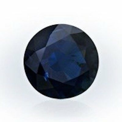 Natural Dark Blue Sapphire Diffusion Round Faceted (3mm - 10mm) Loose Gemstones