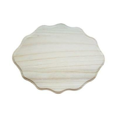 Bare Wood Nameplate - Scallop Small #8174
