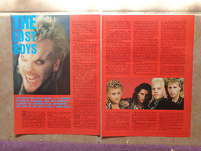 THE LOST BOYS_MAGAZINE CLIPPINGS_ships from AUS!_15h