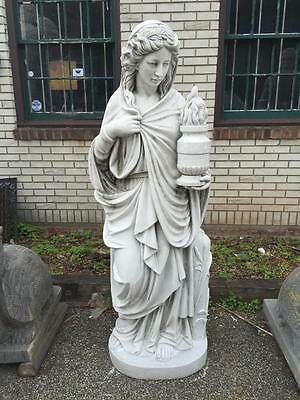 Beautiful Hand Carved Marble Angel  Estate Indoor Outdoor Statue  - 07Ch003