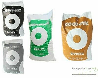 BIOBIZZ Worm-Humus, All Mix, Light Mix & Coco Mix Hydroponic Growing Media Soil