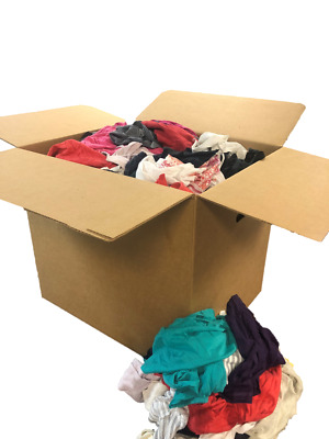 Carton of Colored T-shirt Rags (50 LB)