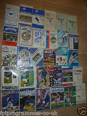 Carlisle  Home Programmes 1960/61 to 2005/06 UPDATED 31/5/17  Select from list
