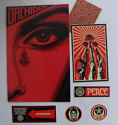 ORCHID Limited Edition Shepard Fairey Comic Cover & Obey STICKERS Tom Morello