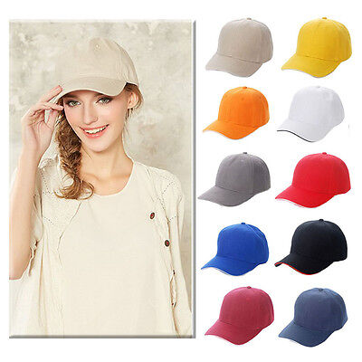 Men Women Baseball Cap Adjustable Snapback Sport Hip-Hop Flattened Hat Unisex