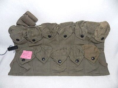 WWI Grenade Pouch Apron Government Issue US Military Surplus Canvas Date 1918