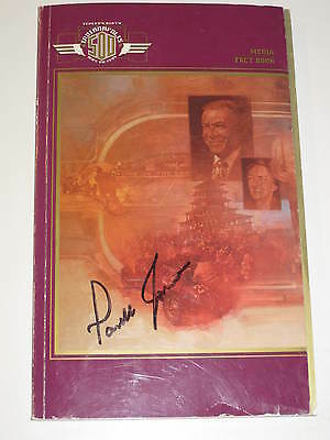 Parnelli Jones Signed 1995 Indianapolis 500 Media Guide**1963 Winner**indy 500