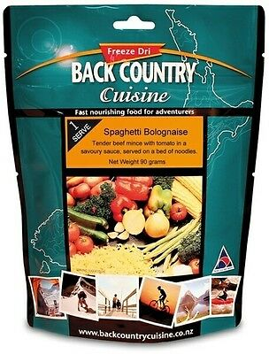 Back Country Cuisine Freeze Dried Food Spaghetti Bolognaise 1 Serve