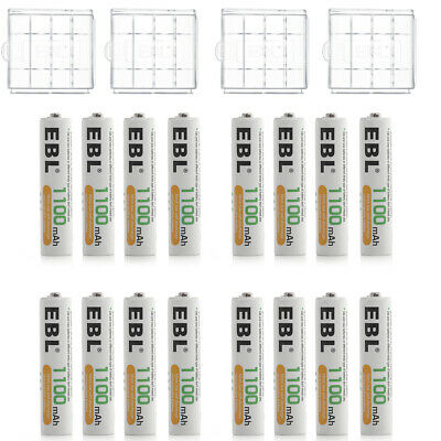 20x EBL 1100mAh AAA Ni-MH Rechargeable Battery for Camera Flashlight + Case Box