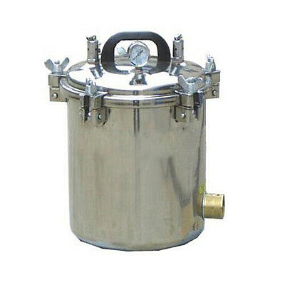 12L Medical High Pressure Steam Autoclave Sterilizer Portable Stainless Steel