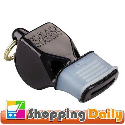 Whistle Referee-Coach for safety alert rescue Black Colour