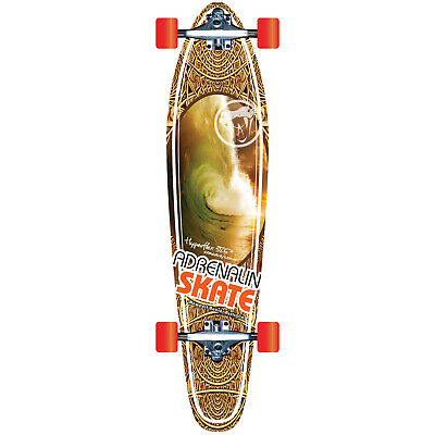 "Adrenalin Cruiser Hyper-Flex 38.5"" Skateboard - Features Bamboo Convex Deck"