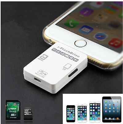 i-Flash Drive External SD/TF Card Reader Adapter For iPhone 5S/6/6plus iPad Mac#