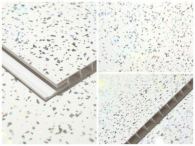 White Sparkle Decorative Wall Cladding Bathroom Cladding Kitchen Pvc Cladding