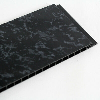 Black Marble 8mm, Beige marble 5mm PVC  Bathroom Wall Panels Shower Cladding