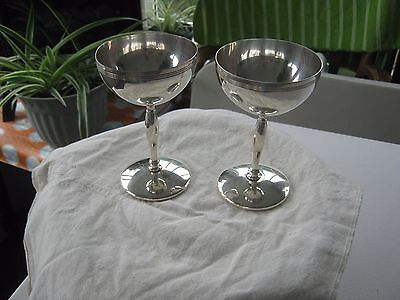 TWO Wm A Rogers SILVER PLATED CHALIS CUPS #4986