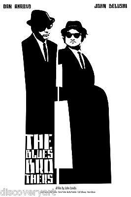 Blues Brothers 1980 Movie Poster Stretched Canvas Wall Art Film Print J Belushi