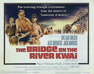 Bridge on the River Kwai 1973 Movie Poster Canvas Wall Art 70s Action Film Print