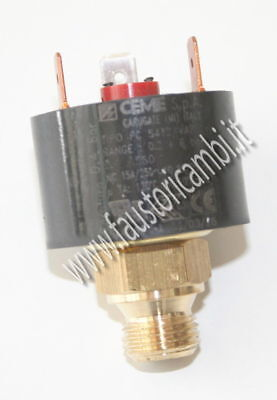Pressure Switch Safety Miss Water Ceme Ø 1/4 Boiler Scale 0,2 - 6 Adjustable