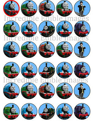 30 Thomas The Tank Engine Train Edible WAFER Cupcake Topper-PRE CUT