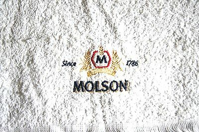 "Bar Towel ""MOLSON"" Beer Brews Man Cave Shop Garage Clean Up Collectible"