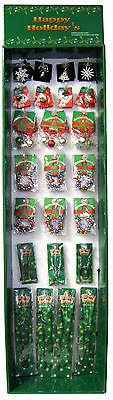 Christmas Novelty Jewelry Holiday Floor Display- 156 Pieces!