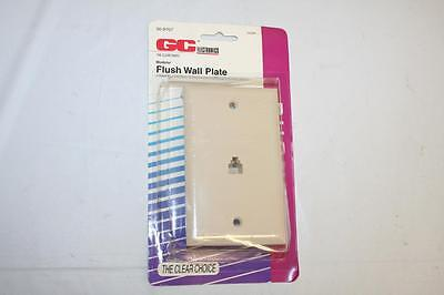 Ivory Phone Jack Flush Wall Plate 4-Wire Telephone GC 30-9707 New