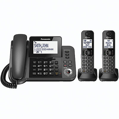 Panasonic KX-TGF352M DECT 6.0 Corded/Cordless Phone System with 2 Handsets