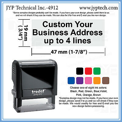 New Trodat 4912 Self-inking Rubber Stamp, Custom Text up to 4 Lines