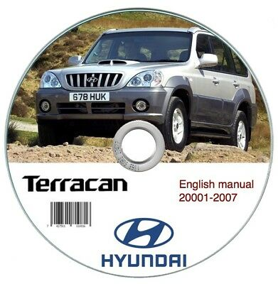 Hyundai Terracan 2001-2007 workshop manual manuale officina