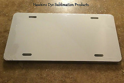 "30 Pieces ALUMINUM LICENSE PLATE SUBLIMATION BLANKS 6""x12"""