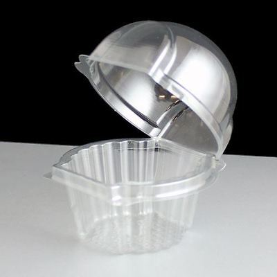 Plastic Cup Cake Pod Muffin Clam Box Dome - Various Size and Quantities