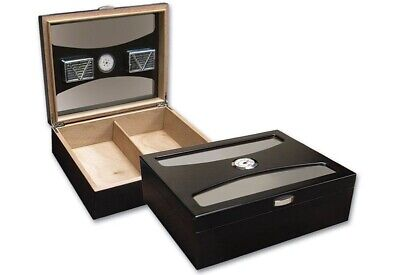 Prestige Import Group - The Delano UV Glass Top Cigar Humidor