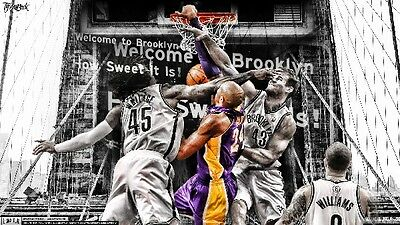 KOBE BRYANT Photo Quality LAKERS Poster - Choose a Size!  #05