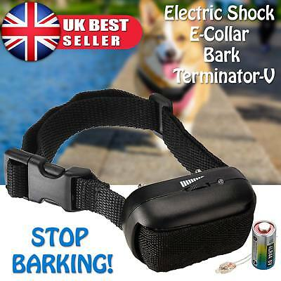 New Anti Bark Collar 13V LED Electric Shock Dog Pet Training Control Test Light