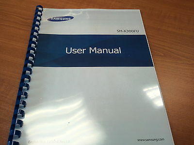 Samsung Galaxy A300Fu A3  Printed Instruction Manual User Guide 123 Pages
