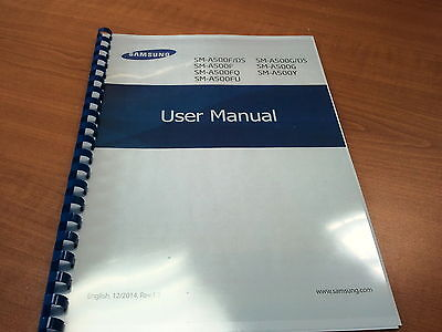Samsung Galaxy A500F  Printed Instruction Manual User Guide 137 Pages