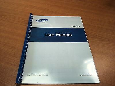 Samsung Galaxy G750F Mega 2  Printed Instruction Manual User Guide 207 Pages