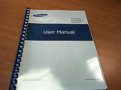 Samsung Galaxy S6 Sm-G920F  Printed Instruction Manual User Guide 140 Pages A4