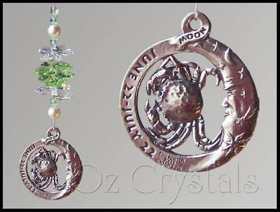 Star Sign Suncatcher Made With Swarovski Crystal  & Pewter - Zodiac Star Sign's