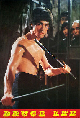 """BRUCE LEE - The Way of the Dragon POSTER 21""""x31"""" KUNG FU FIGHTING v7 RARE"""