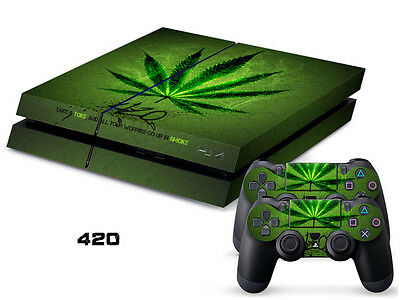420 COOL DECAL SKIN PROTECTIVE STICKER for SONY PS4 CONSOLE CONTROLLER F/107