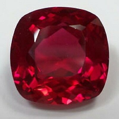 Lab Created Hydrothermal Ruby AAA Cushion Shape Loose stone (3x3mm - 13x13mm)