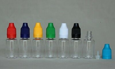 15ml PET Clear liquid dropper bottle tamper proof child proof cap 10 sets