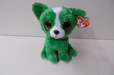 """TY NEW RARE 2015 Beanie Boo 6"""" Dill Green Dog Show Special Limited Availability"""