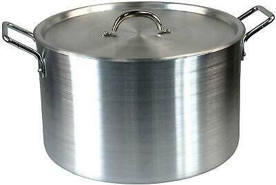 "14"" Large Aluminium Cooking Saucepan Stock Stew Soup Casserole Catering Pan Pot"