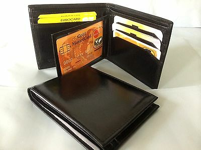 Mens Wallet Genuine Leather - Black - AE08