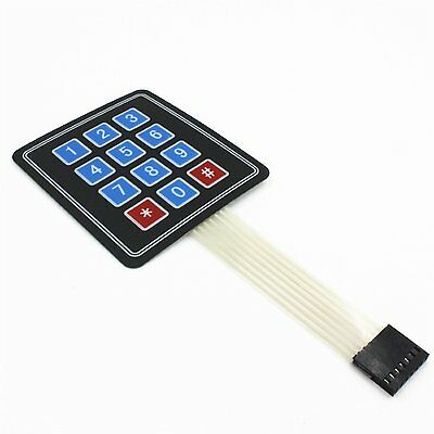 5PCS 4 x 3 Matrix Array 12 Key Membrane Switch Keypad Keyboard for Arduino/AVR